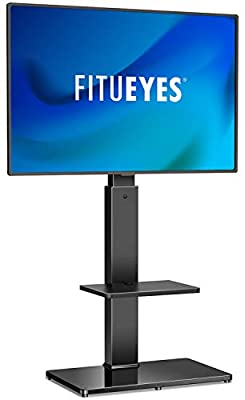 FITUEYES Swivel Floor TV Stand with Mount