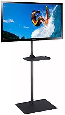 Elitech TV Portable Floor Stand with Middle Shelf