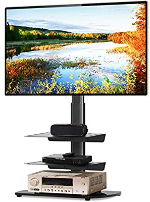 5Rcom Universal Floor TV Stand with Swivel Mount