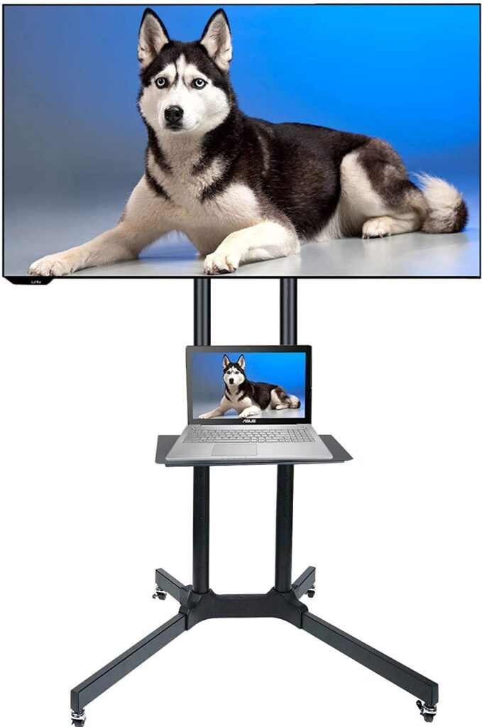 Husky Mount Mobile TV Stand with Wheels