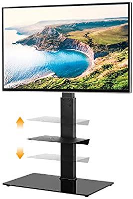 5Rcom Black TV Floor Stand