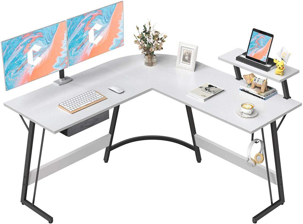 "CubiCubi L-Shaped 50.8"" Corner Computer Desk"