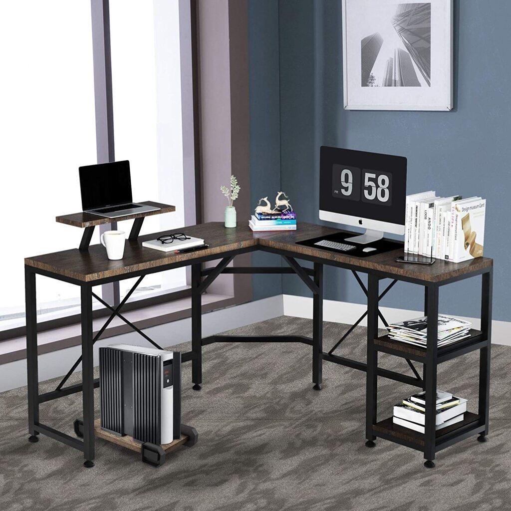 F&R L-Shaped Computer Desk
