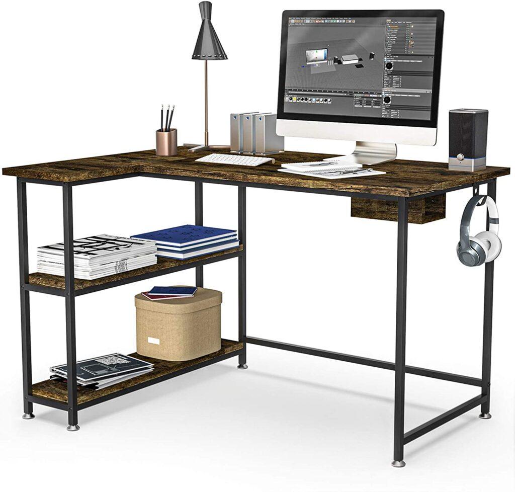 HABILY L_Shape Computer Desk