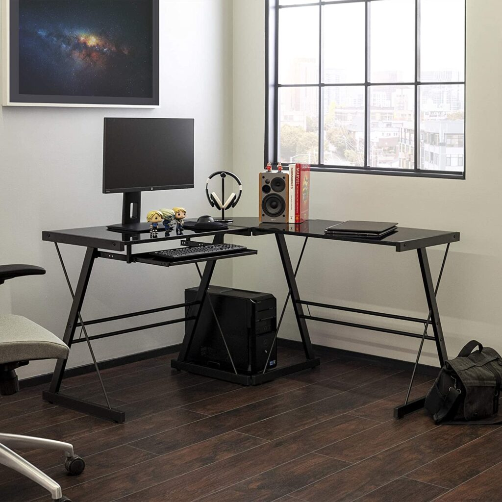 Walker Edison Modern L-shaped Desk