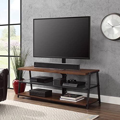 Mainstays 3-in-1 Medium Brown TV Stand for TV's up to 70""
