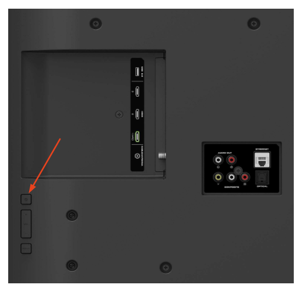 Vizio power button location